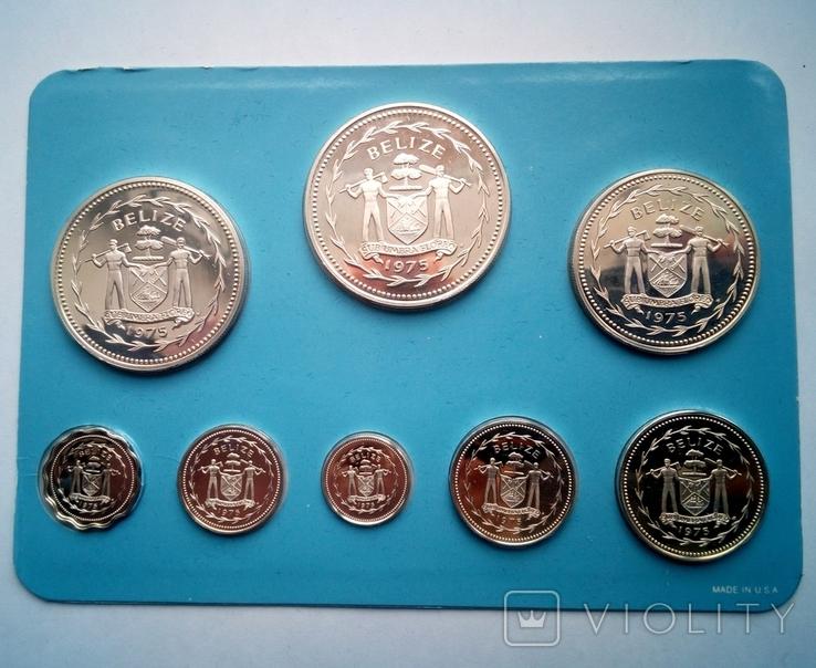 Белиз годовой набор 1975 года - серебро 925 пр. ПРУФ, фото №6