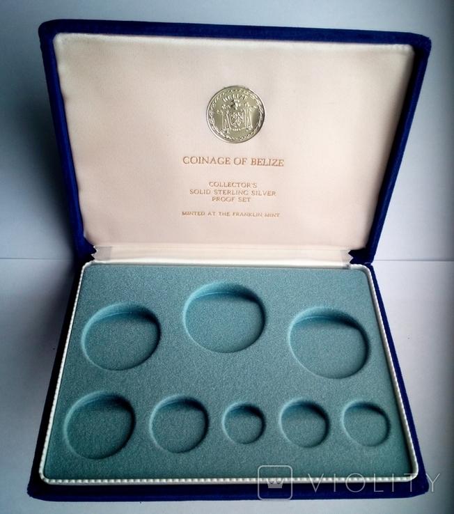 Белиз годовой набор 1975 года - серебро 925 пр. ПРУФ, фото №9