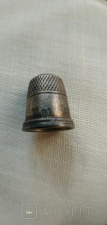 Наперсток серебряный. 875 проба. СССР., фото №2