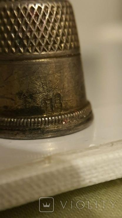 Наперсток серебряный. 875 проба. СССР., фото №5