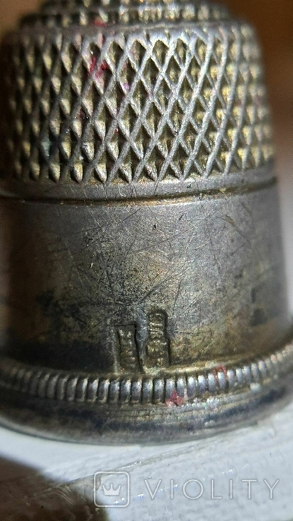 Наперсток серебряный. 875 проба. СССР., фото №8