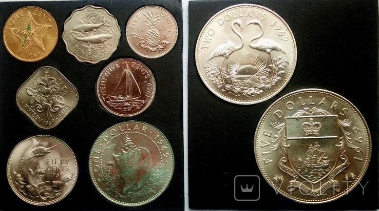 Багамы набор монет 1969 года, фото №2