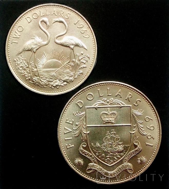 Багамы набор монет 1969 года, фото №5