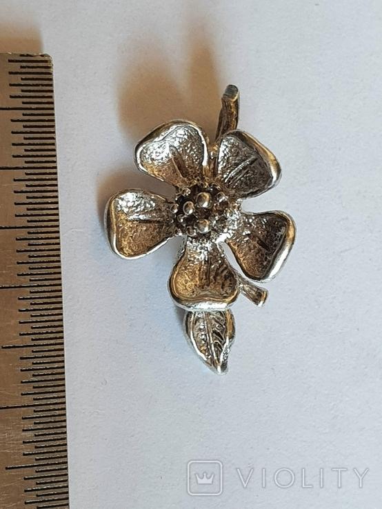 Советский подвес - цветок. Серебро 916 проба., фото №2