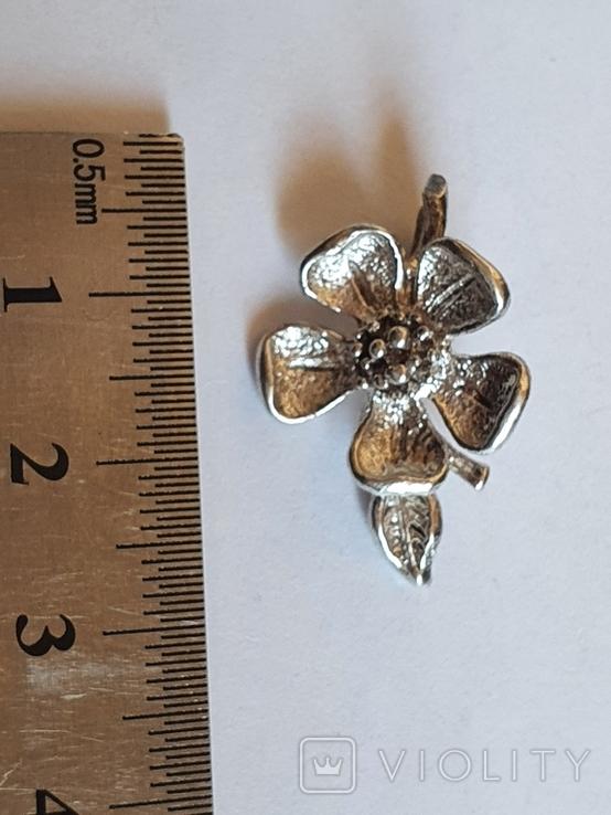 Советский подвес - цветок. Серебро 916 проба., фото №3
