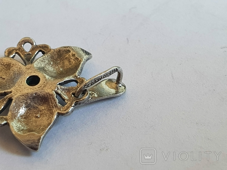 Советский подвес - цветок. Серебро 925 проба. СССР., фото №7