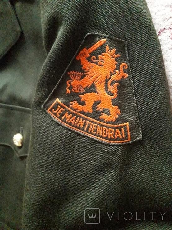 Мундир китель с нашивкой + брюки. Армия Je Maintiendrai Нидерланды, Голландия, фото №4