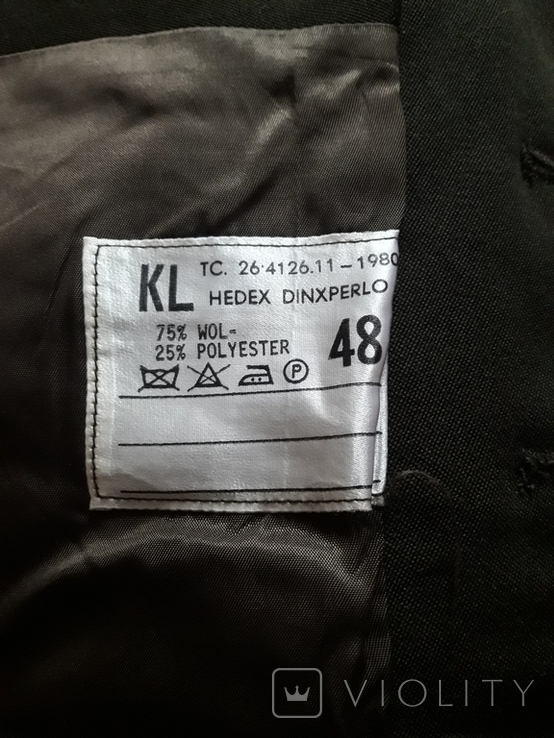 Мундир китель с нашивкой + брюки. Армия Je Maintiendrai Нидерланды, Голландия, фото №10