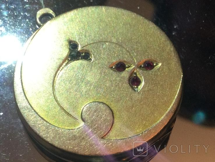 Кулон СССР 1970 золото (двух видов), камни, фото №2