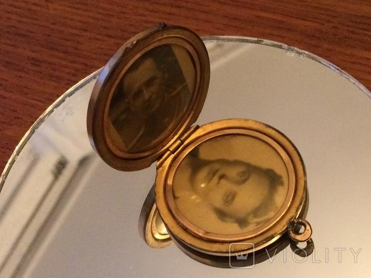 Кулон СССР 1970 золото (двух видов), камни, фото №5