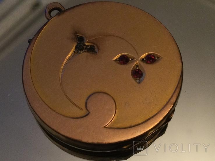 Кулон СССР 1970 золото (двух видов), камни, фото №9