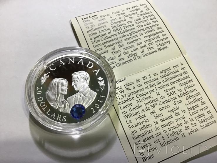 20 долларов 2011 г. Канада. Серебро, фото №3
