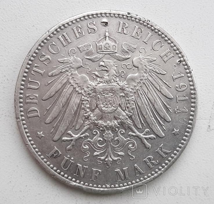 5 марок 1911 года Бавария, фото №3