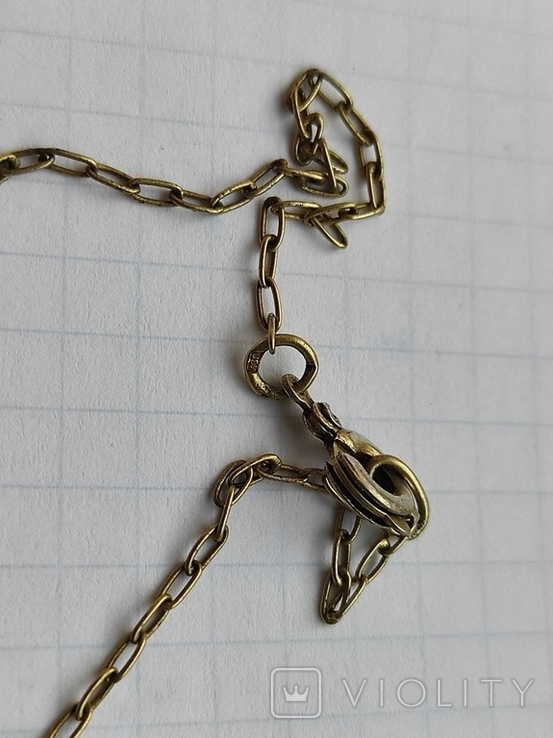 Кулон на цепочке серебро в позолоте 875 (звезда), фото №4