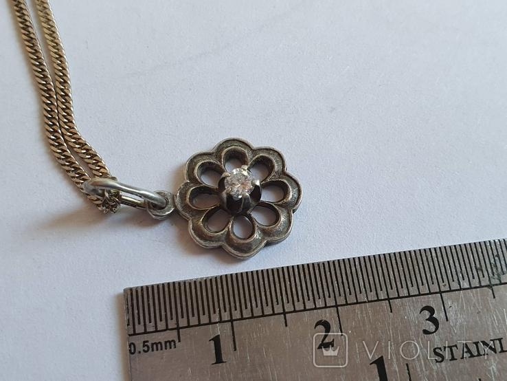 Кулон + цепочка 40 см. Серебро 925 проба., фото №6