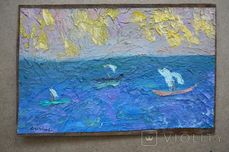 Кораблики в море. Подпись, фото №2