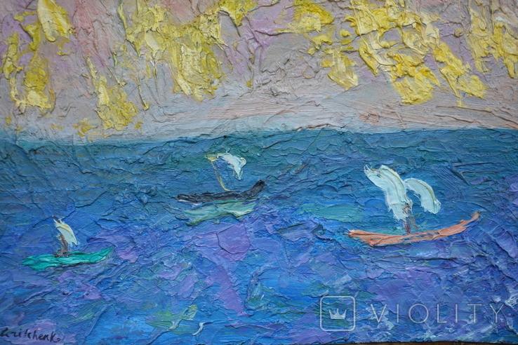 Кораблики в море. Подпись, фото №3