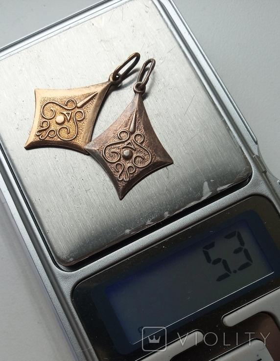 Изделие из серебра 875 пр. со звездой , 2 шт., фото №10
