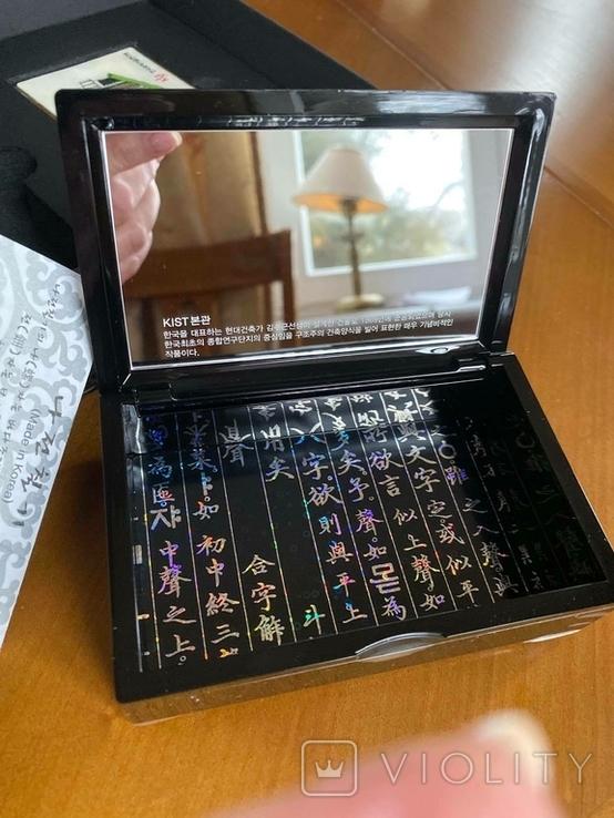 Шкатулка і візитниця. Лакова мініатюра з перламутром (Корея)., фото №6
