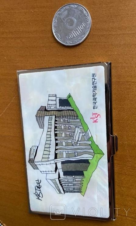 Шкатулка і візитниця. Лакова мініатюра з перламутром (Корея)., фото №7