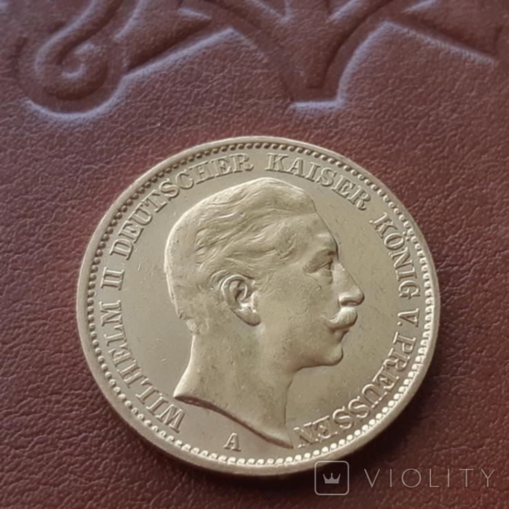 Золото 20 марок 1906 Пруссия Германия, фото №3