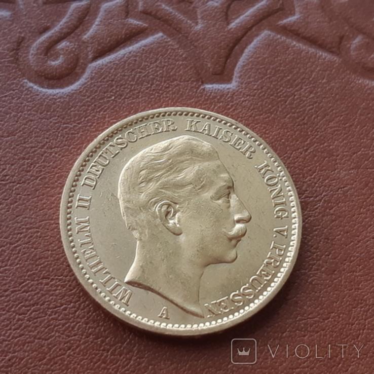 Золото 20 марок 1906 Пруссия Германия, фото №5
