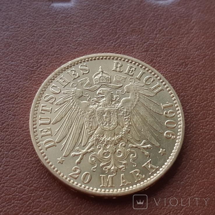 Золото 20 марок 1906 Пруссия Германия, фото №8