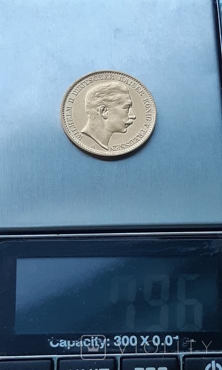 Золото 20 марок 1906 Пруссия Германия, фото №12