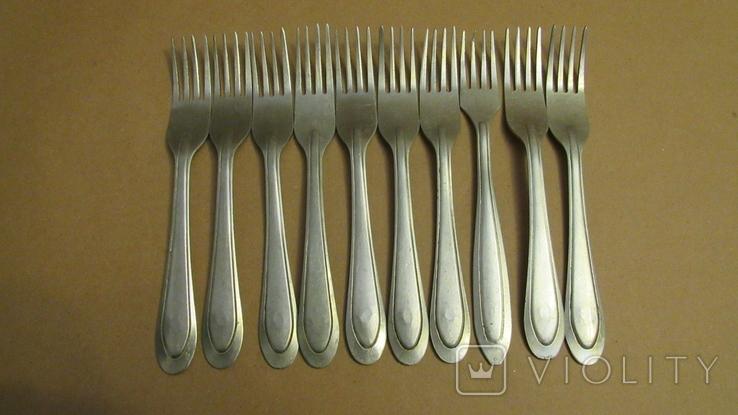 Вилки алюминиевые ссср 10 штук, фото №2