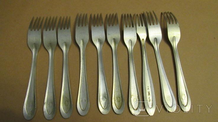 Вилки алюминиевые ссср 10 штук, фото №4