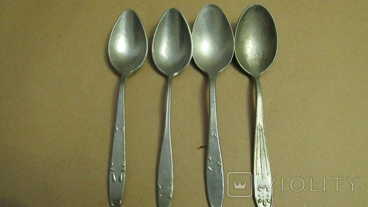 Ложки алюминиевые 4 штуки, фото №2