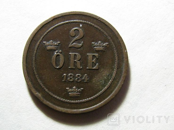 2 ере 1884 Швеция, фото №2