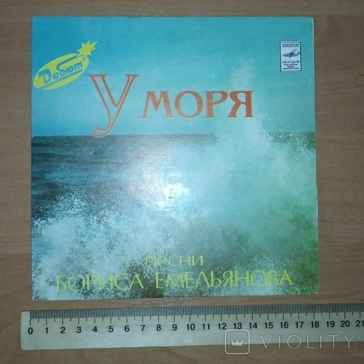 У моря . Песни Бориса Емельянова (Апрелевский завод) 1982 год., фото №4