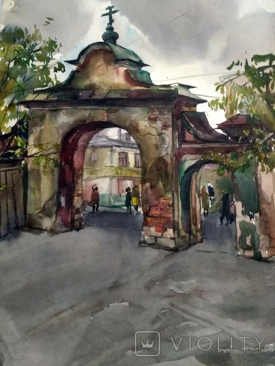 Акварель. Старая часть города., фото №3