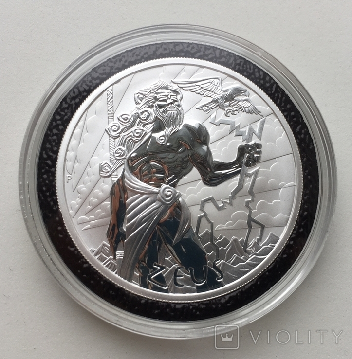 Легендарный Зевс Боги Олимпа 2020 Тувалу Zeus, фото №2
