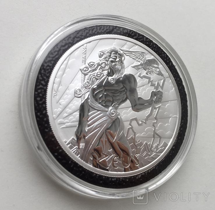 Легендарный Зевс Боги Олимпа 2020 Тувалу Zeus, фото №4