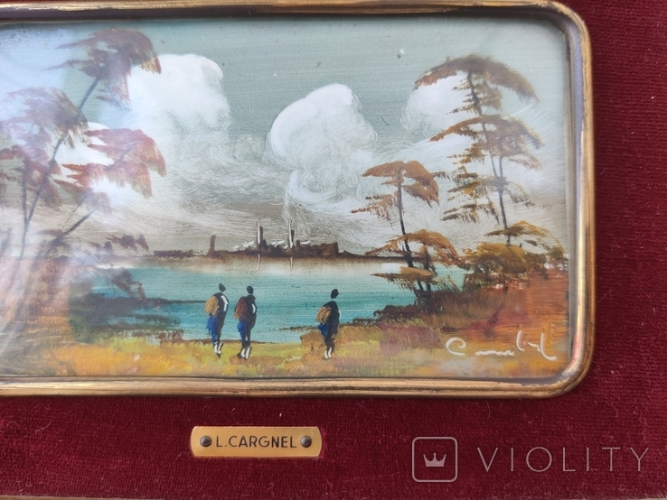Картина миниатюра живопись ( Италия ) разм 28*23, фото №4