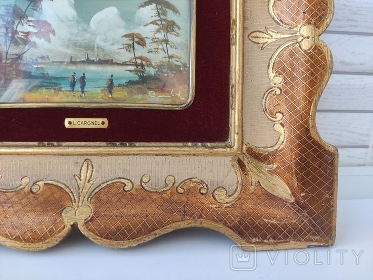 Картина миниатюра живопись ( Италия ) разм 28*23, фото №5