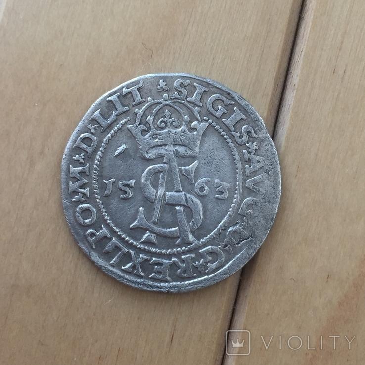 Трояк 1563 Зигмунд Август Литва, фото №5