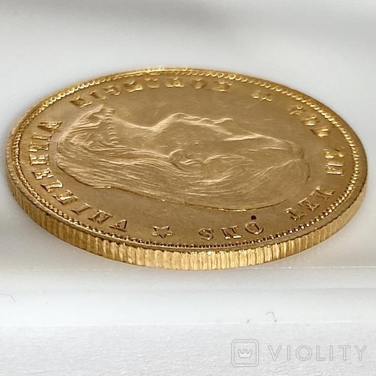 10 гульденов. 1897. Королева Вильгельмина. Нидерланды (золото 900, вес 6,66 г), фото №11