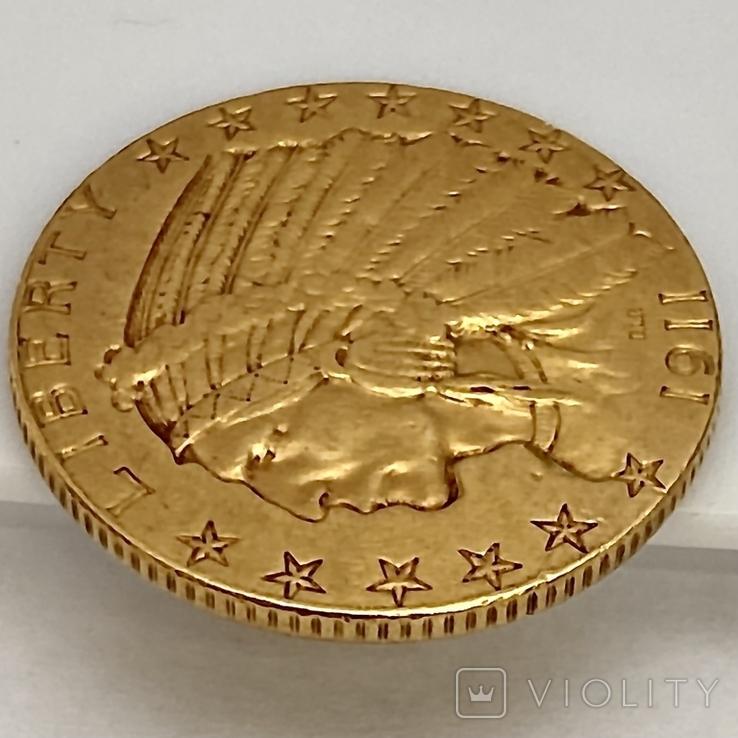 5 долларов. 1911. США (золото 900, вес 8,35 г), фото №10