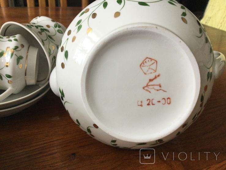 СССР УССР Городница кофейный сервиз березка 1970, фото №8