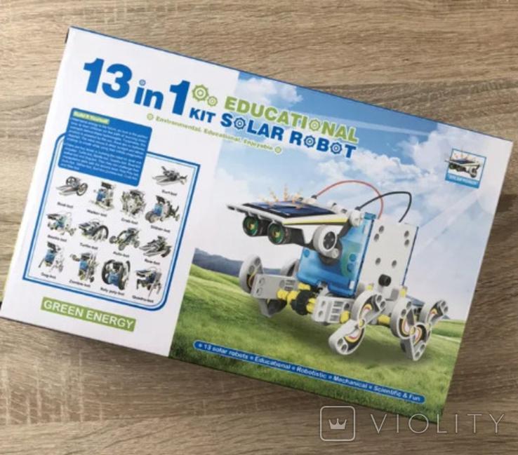 Конструктор - робот 13 в 1 на солнечных батареях., фото №2