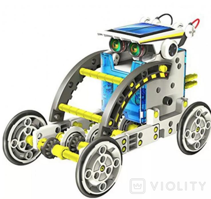Конструктор - робот 13 в 1 на солнечных батареях., фото №5