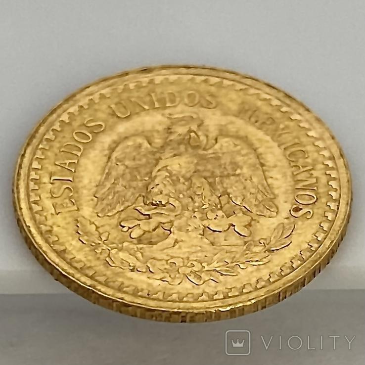2,5 песо. 1945. Мексика (золото 900, вес 2,08 г), фото №11