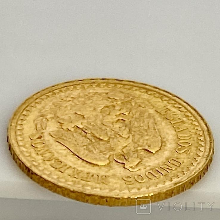 2,5 песо. 1945. Мексика (золото 900, вес 2,08 г), фото №12