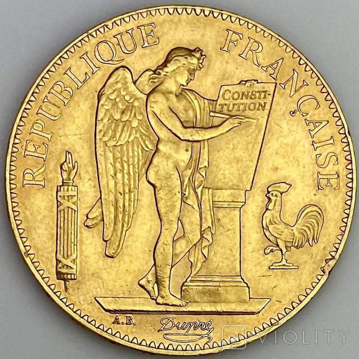 """100 франков. 1886. """"Золотой ангел"""" Франция (золото 900, вес 32,25 г), фото №2"""