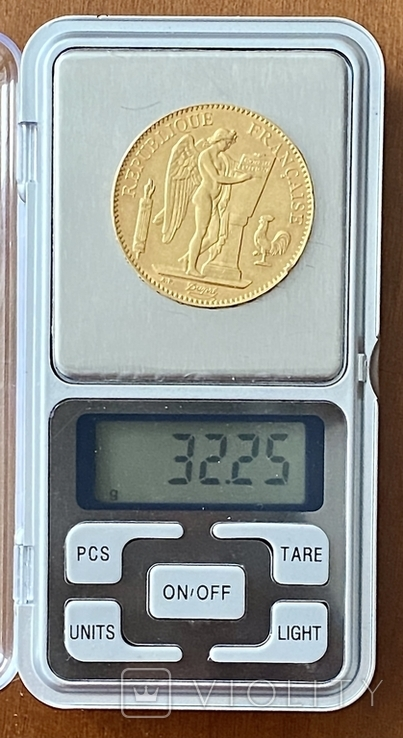 """100 франков. 1886. """"Золотой ангел"""" Франция (золото 900, вес 32,25 г), фото №9"""