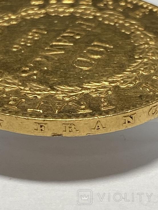 """100 франков. 1886. """"Золотой ангел"""" Франция (золото 900, вес 32,25 г), фото №11"""