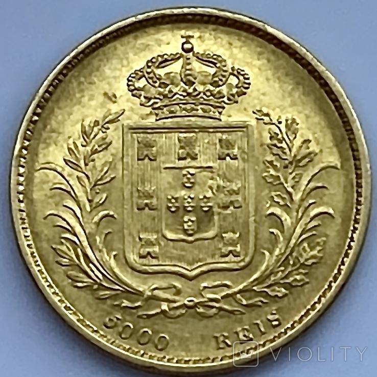 5000 реалов. 1863. Португалия (золото 917, вес 8,82 г), фото №5